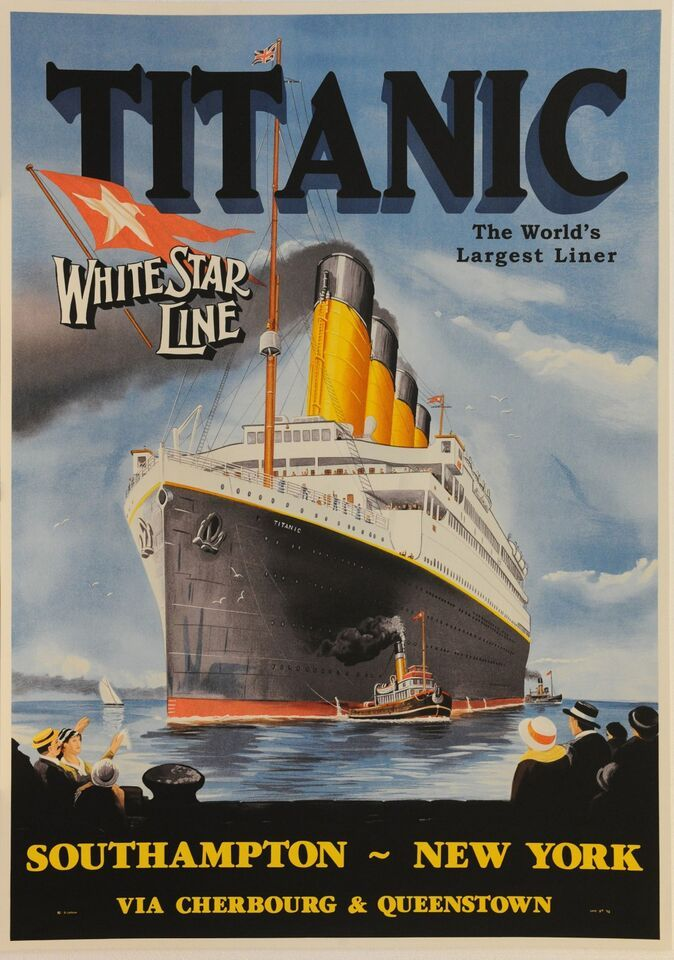 White Star Line RMS Titanic poster - 1912