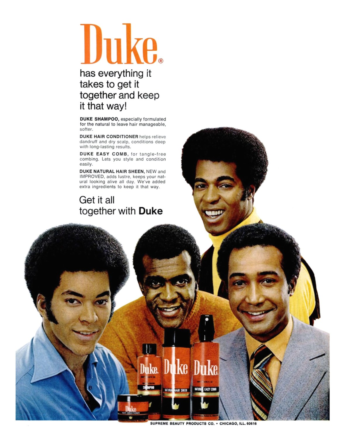 Duke/Supreme Beauty Products Company - 1971