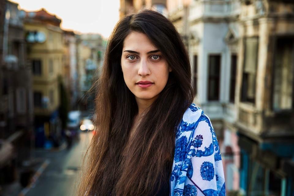 Syrian woman in Istanbul, Turkey.