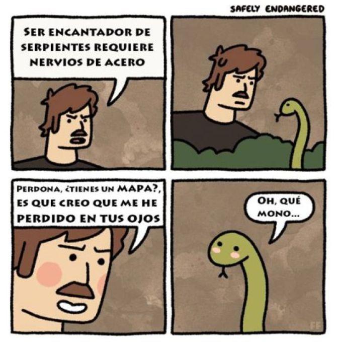Encantador de serpientes viñeta