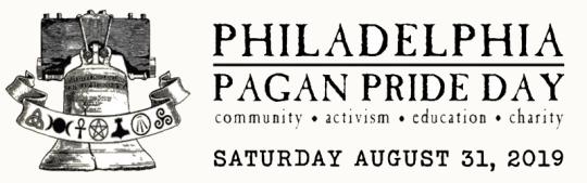 Philadelphia Pagan Pride Day, Saturday, August 31, 2019