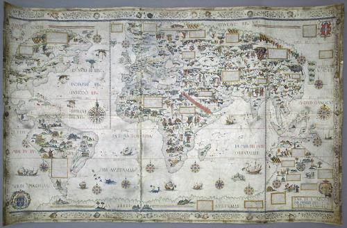 tumblr_pjbjfhmYdb1qz6f9yo1_500 You can't get there from here - Pierre Desceliers, 1550... Random