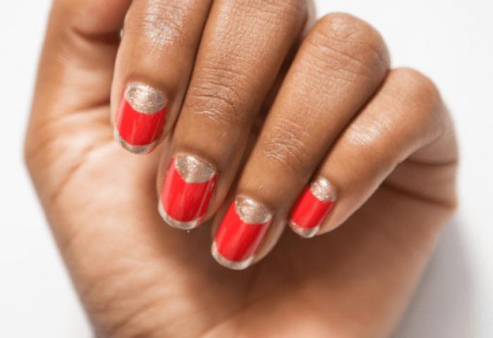 Decoración De Uñas Nails Uñas Decoradas Con Francesitas Y Medias