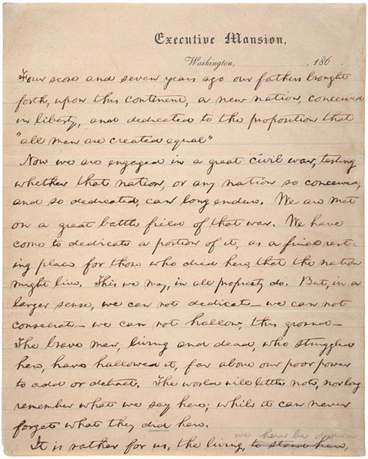 Today S Document Lincoln At Gettysburg 150 Years Ago On