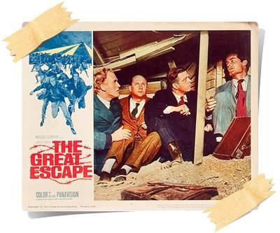 The Great Escape,1963,John Sturges,Paul Brickhill, James Clavell, W.R. Burnett,172 Dak.,ABD,Steve McQueen,Hilts,The Cooler King,Büyük Firar,İngilizce,Nostalji,Imdb Top List,James Garner,Hendley,The Scrounger,Richard Attenborough,Bartlett,Big X,