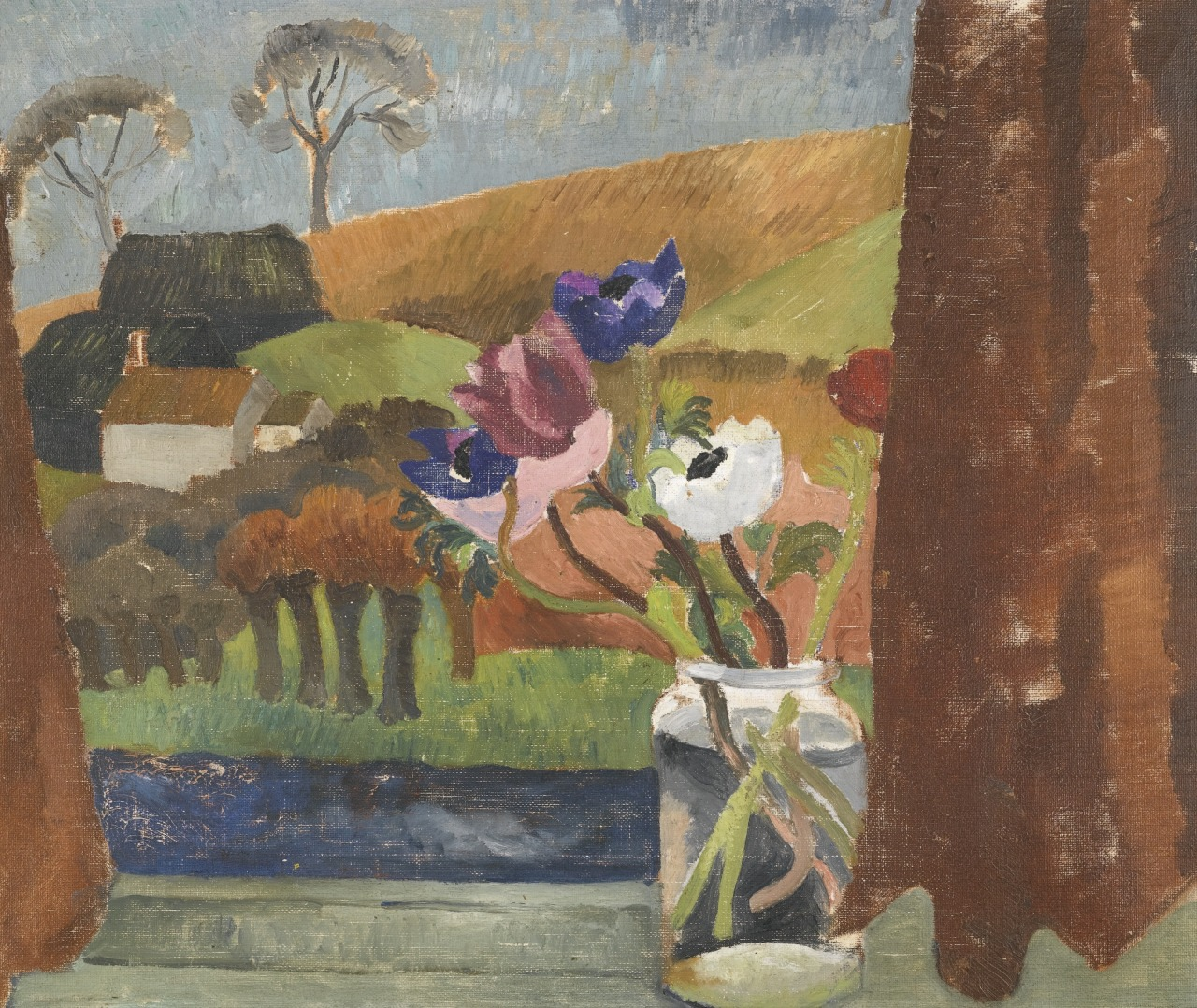 "thunderstruck9: "" Christopher Wood (British, 1901-1930), Anemones in Window, Broadchalke, Wilts., 1928. Oil on canvas, 51 x 61 cm. """
