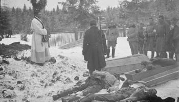 A ditch filled with dead Austro-Hungarian soldiers, the