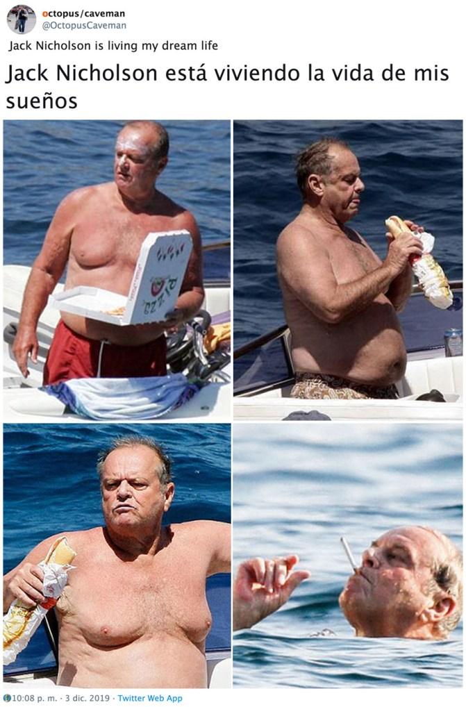 Jack Nicholson vive la vida a tope