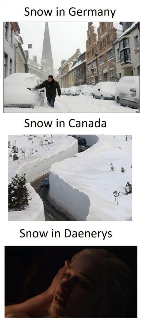 Snow in daenerys