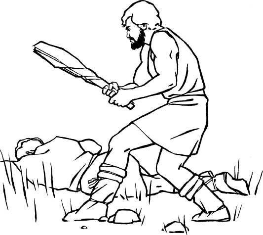 A fun Cain and Abel coloring page for kids (Fo… – Religion