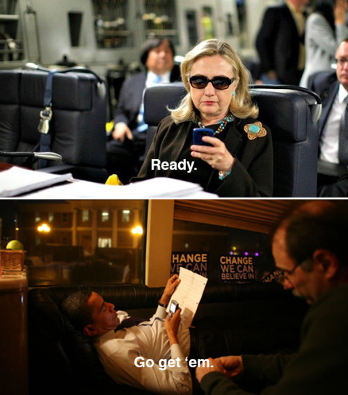 Couldn't help it. One more text from Hillary. Original image by Kevin Lamarque for Reuters.