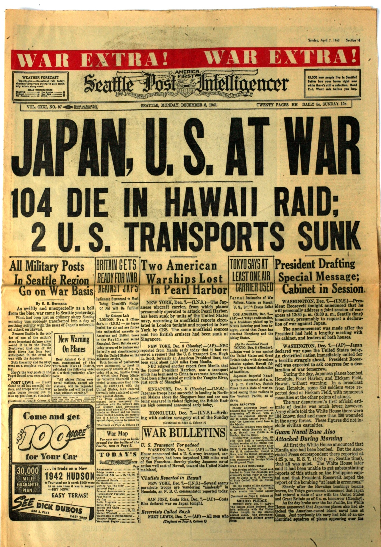 Front Pages Japan S On Pearl Harbour