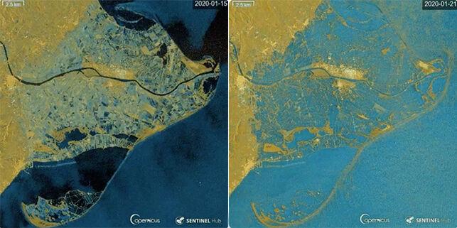 ¿Sigues siendo negacionista? Una imagen muestra como el Delta del Ebro queda sumergido por el agua tras el temporal 'Gloria'