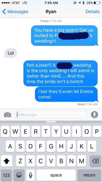 You can have the most amazing wedding ever and I'll still never admit out loud or even just to myself that it was better than mine…. Except for Ryan's BFF, whose reception was completely out of control amazing. Too bad the bride turned out to be a...