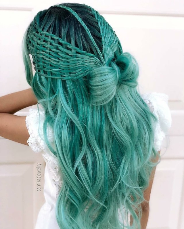 green-and-purple-hair   tumblr