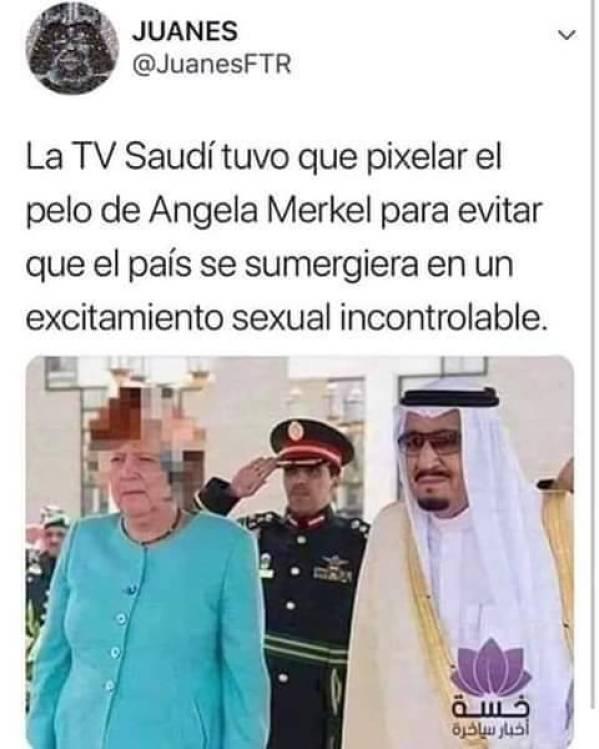 Angela Merkel pixelada