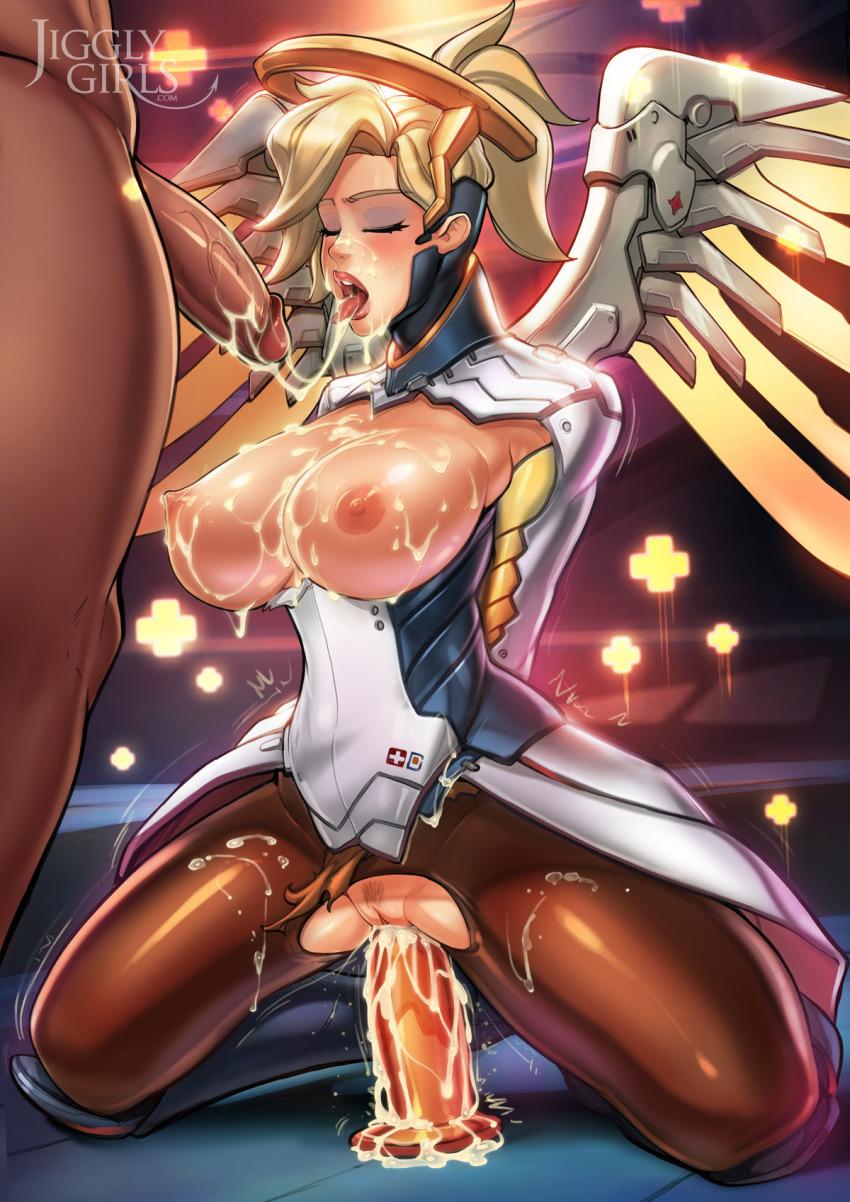 Mercy Covered in Cum