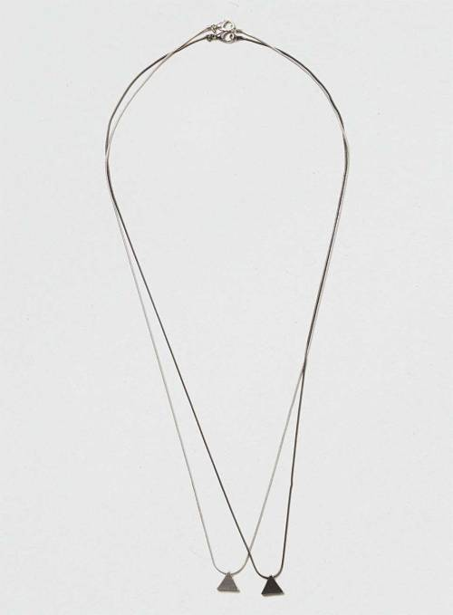 Geometric Multi Row Necklace