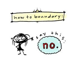 setting boundaries, just say no, dani katz