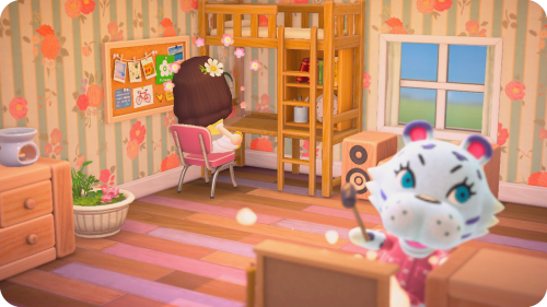 bed with loft | Tumblr on Animal Crossing New Horizons Bedroom Ideas  id=29123