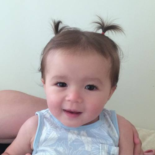 Woohoo! Finally enough hair for pigtails… Sort of… #SlowestHairGrowerEver