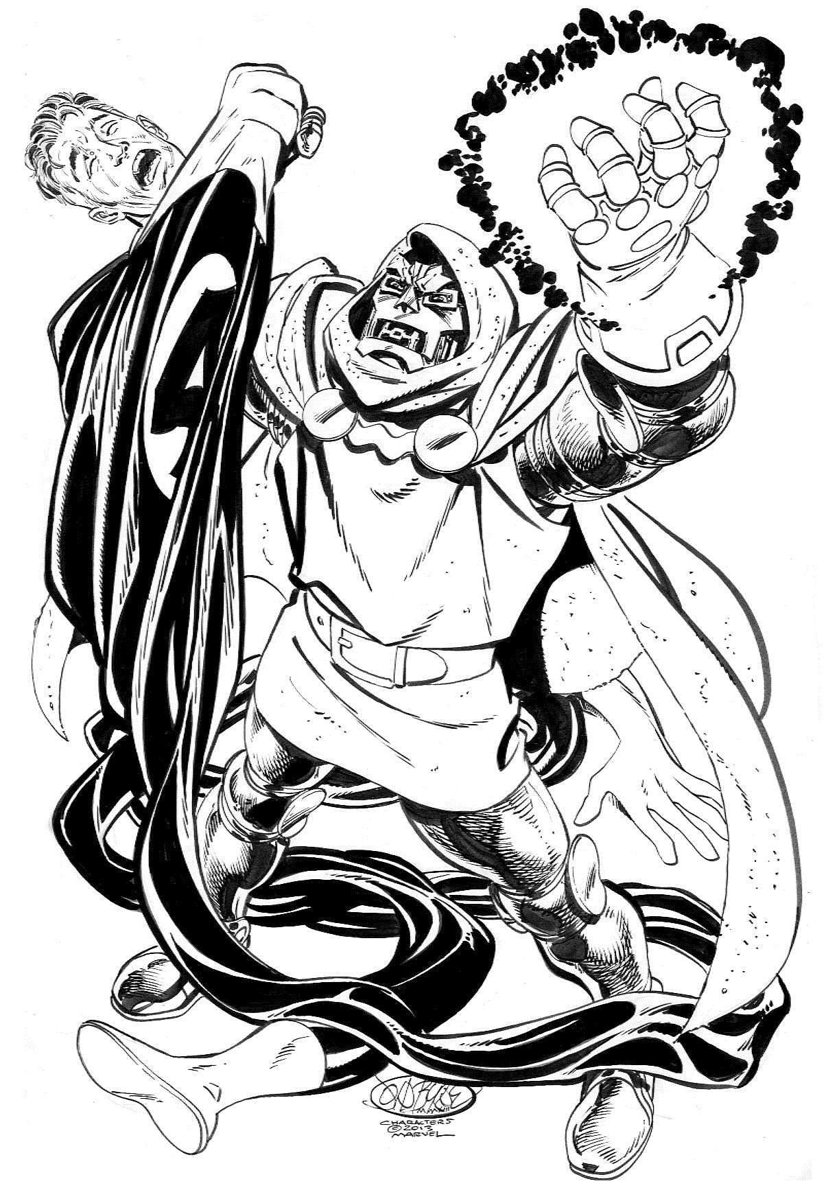 Doctor Doom W Infinity Gauntlet Vs Mr Fantastic