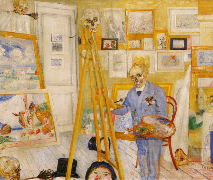 Image result for James Ensor, The Skeleton Painter,