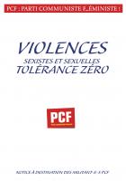 Violences sexistes et sexuelles. Tolérence zéro