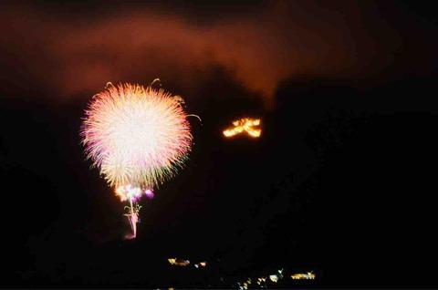 箱根強羅祭り大文字焼