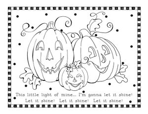 Let It Shine Coloring Page