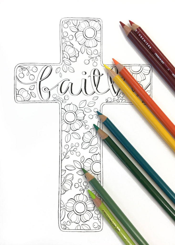 autumn-faith-cross-coloring-page