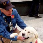 Frank Shane at 9/11 Memorial with Chance