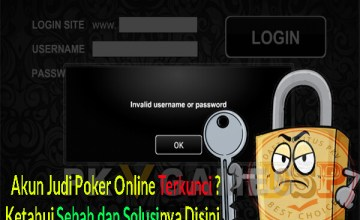 akun judi poker online terkunci