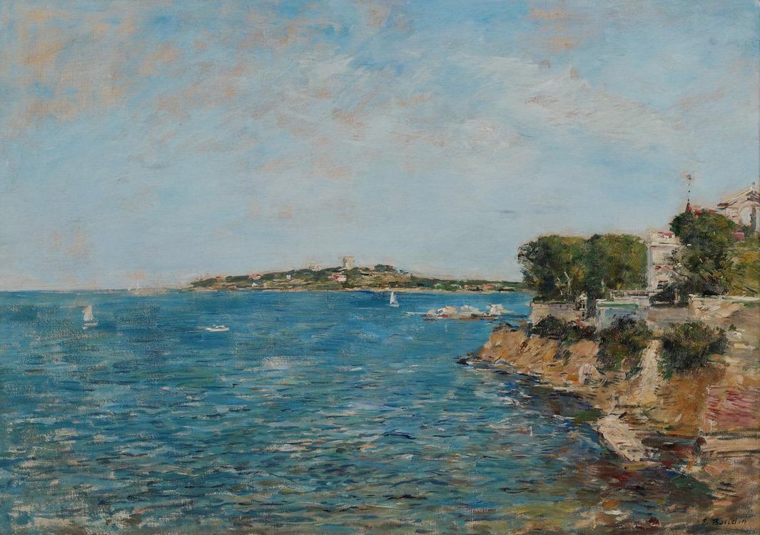 """huariqueje: """"  Beaulieu: La Baie de Saint-Jean - Eugene Boudin French, 1824-1898 Oil on Canvas, 18 X 25 inches """""""