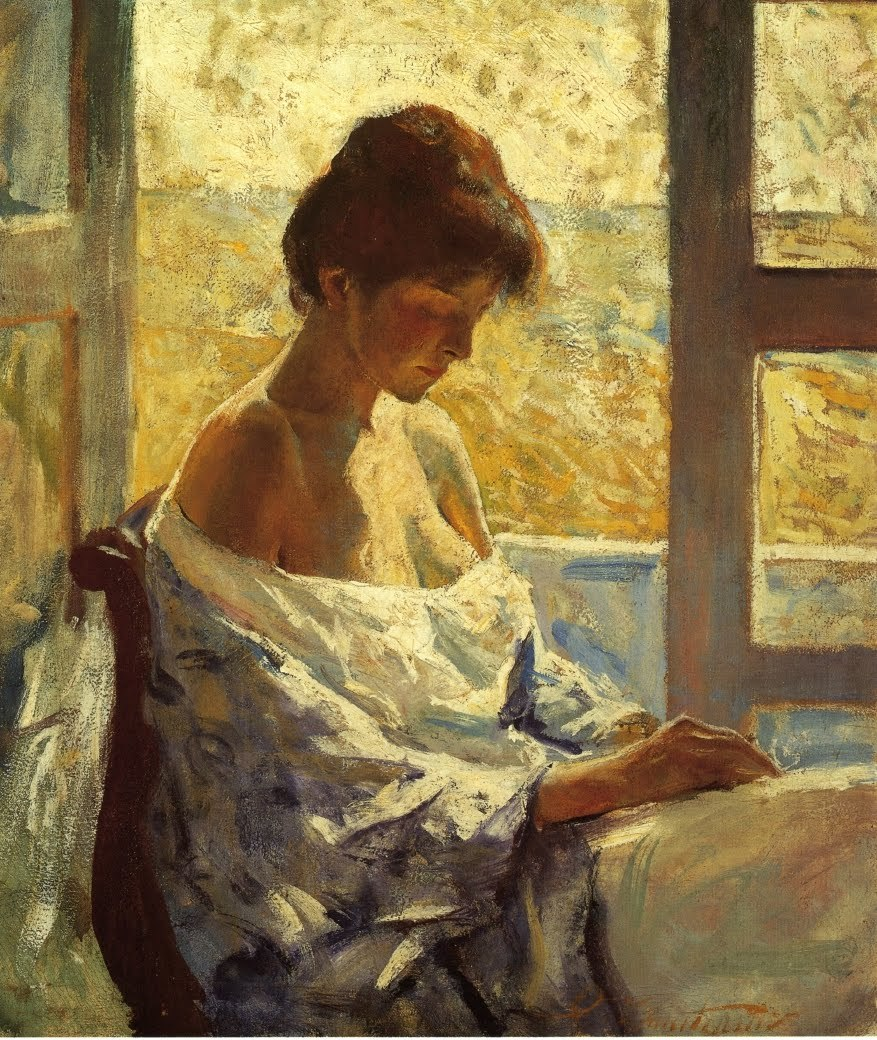"jes68: "" Charles Webster Hawthorne (1872-1930),  By the Window, 1912. """