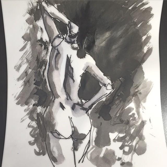 I lied…one more #art #artist #artwork #ink #drawing #illustration #design #graphic #figure #model #woman