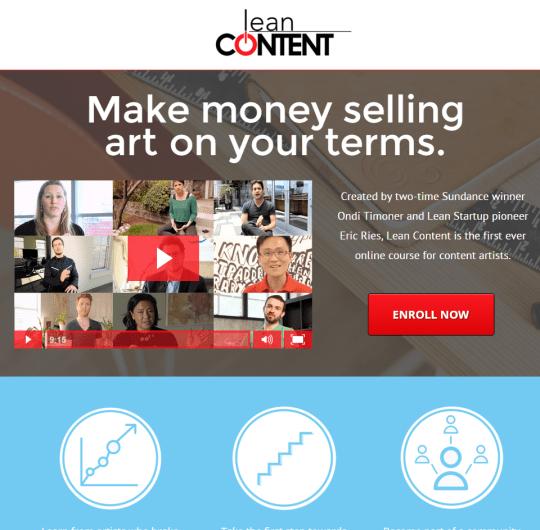 Eric Ries & Ondi Timoner of Lean Content's E Course