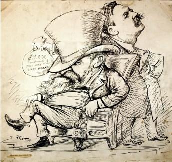 Thomas Nast cartoon, Matthew Quay and Benjamin Harrison