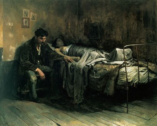 "Image result for La Miseria"" (1886) by Cristobal Rojas."