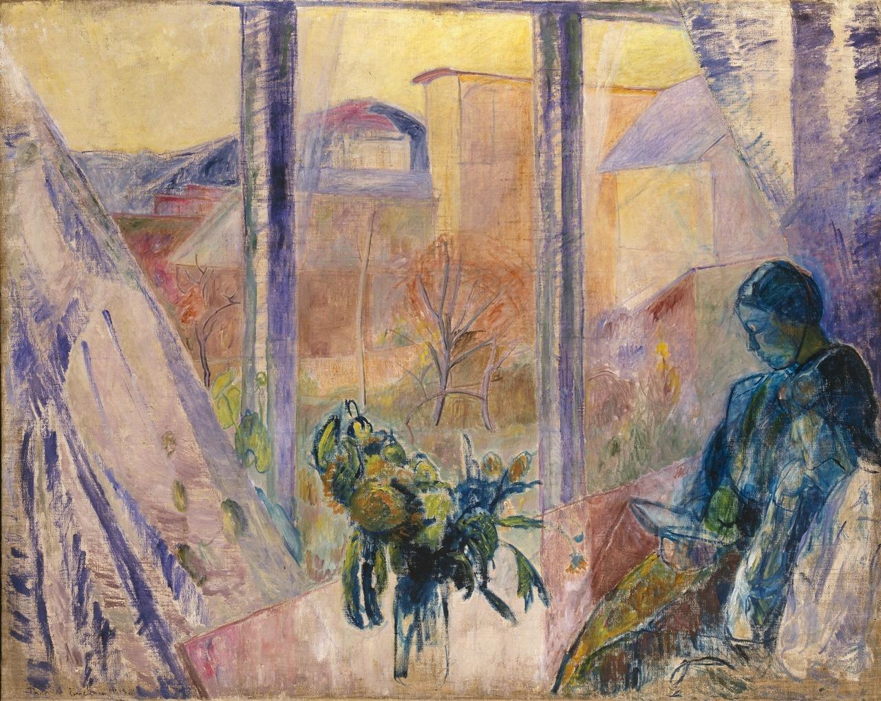 "terminusantequem:"" Thorvald Erichsen (Norwegian, 1868-1939), Gudrun and Agnes at the Window, 1918. Oil on canvas, 130,5 x 163,5 cm"""
