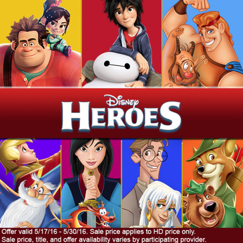 """disneymoviesanywhere: """"You too can save the day with these heroic Disney movies, now available at a special price. """""""