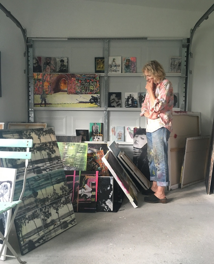 [[MORE]]STUDIO VISIT: JOSEPHA GUTELIUS Studio location: A garage (without the car!) semi-attached to my house. The only natural light is west, which makes for interesting shadows, ideal for my purposes. How long working here? I moved in early August...