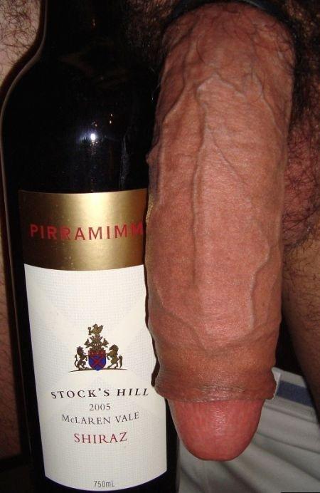 penis garrafa de vinho tinto
