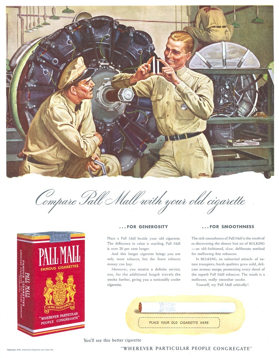 Pall Mall - published in The Saturday Evening Post - December 14, 1940