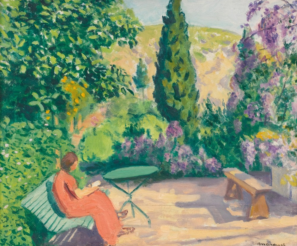 """huariqueje: """" La Lecture - Albert Marquet, 1943-45 French, 1875 - 1947 Oil on panel, 15 x 18 in., 38.1 x 45.7 cm """""""