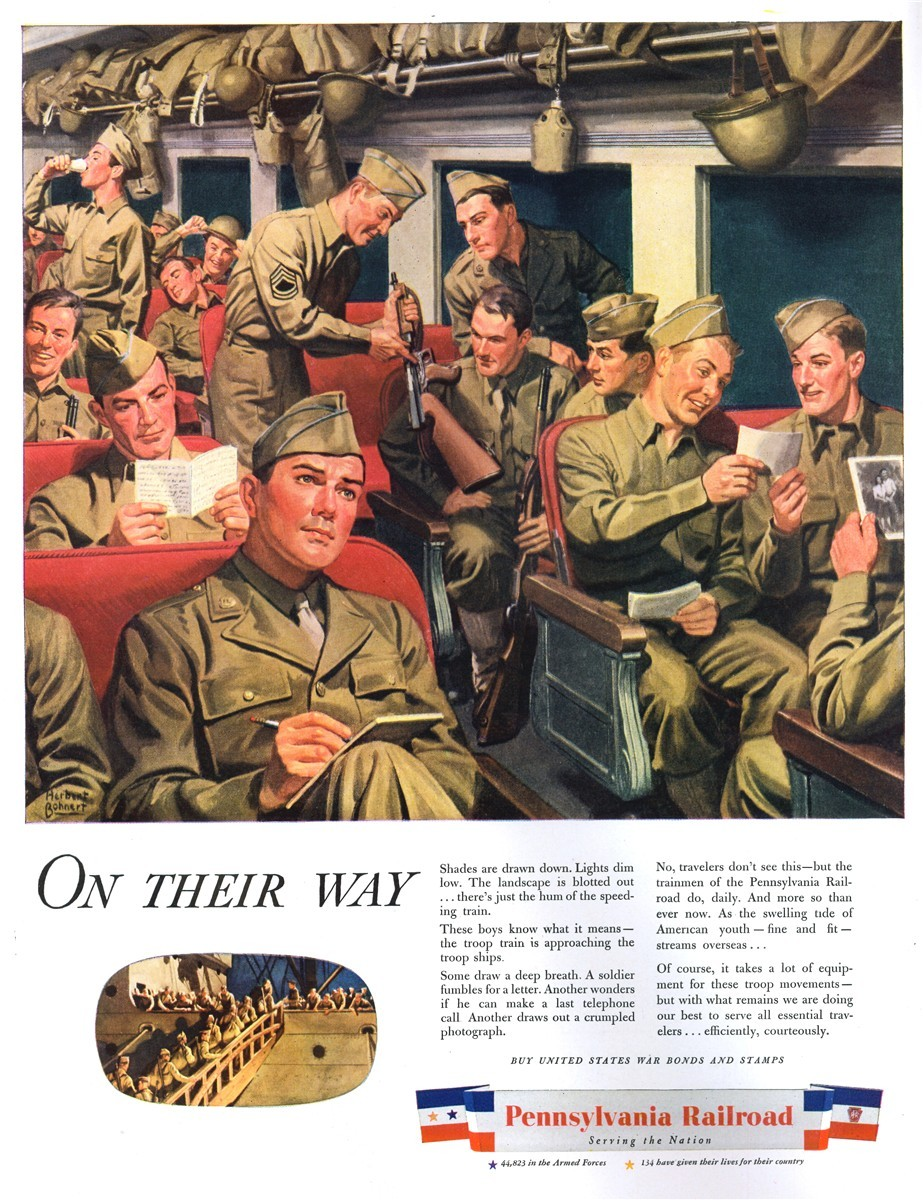Pennsylvania Railroad - published in Life - May 15, 1944