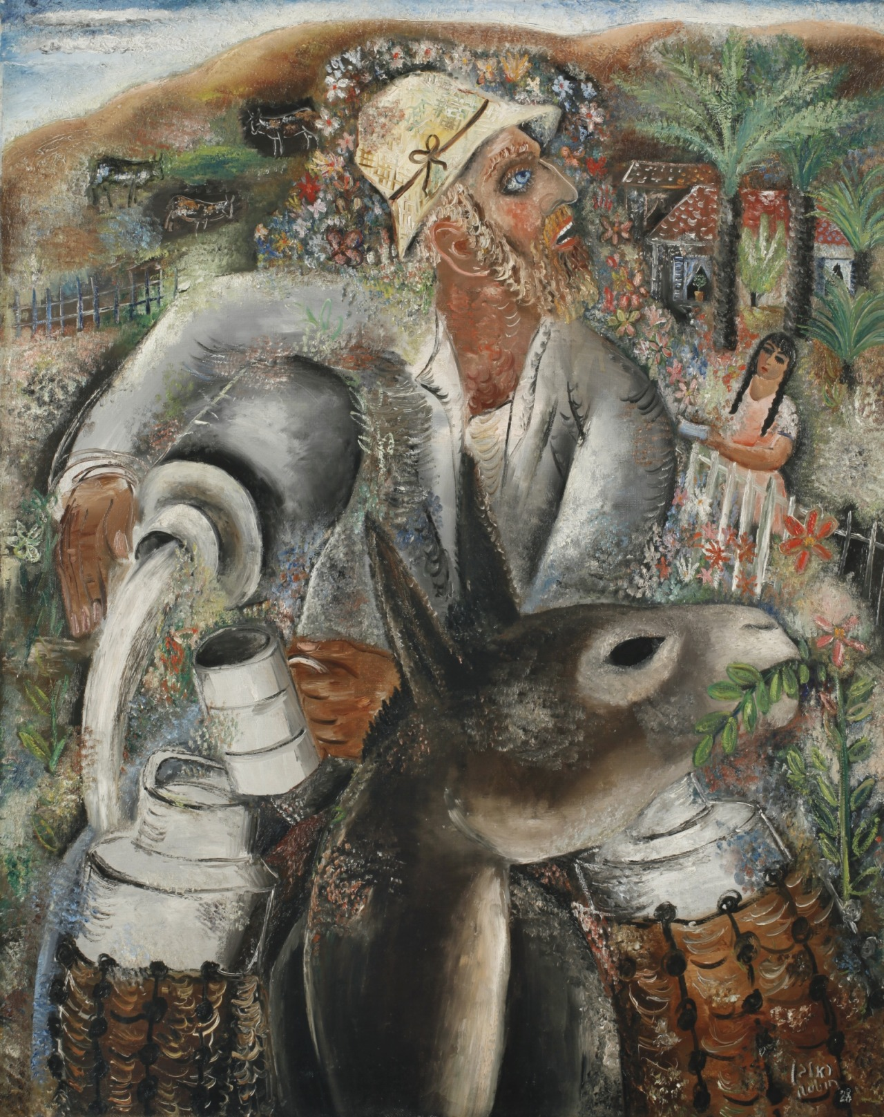 "thunderstruck9: "" Reuven Rubin (Romanian/Israeli, 1893-1974), The Milkman, 1928. Oil on canvas, 92 x 73 cm. """