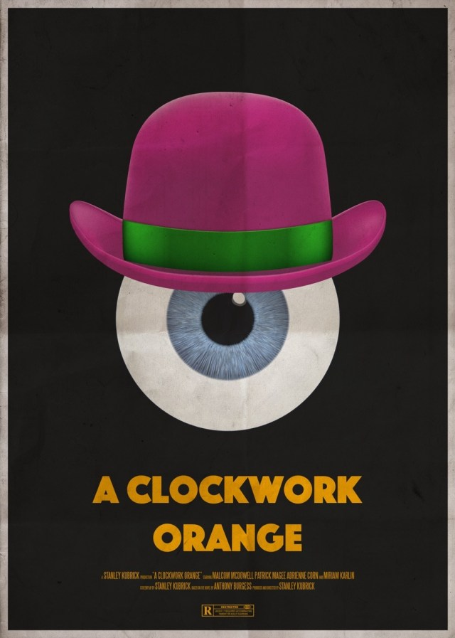 Day 266: A retro number for A Clockwork Orange. #amovieposteraday