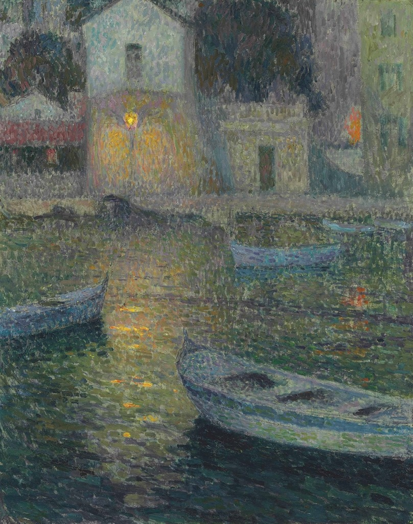 thunderstruck9:  Henri Le Sidaner (French, 1862-1939), La maison des pêcheurs [The Fishermen's House], Villefranche-sur-Mer, 1924-25. Oil on canvas, 82 x 65.7 cm.