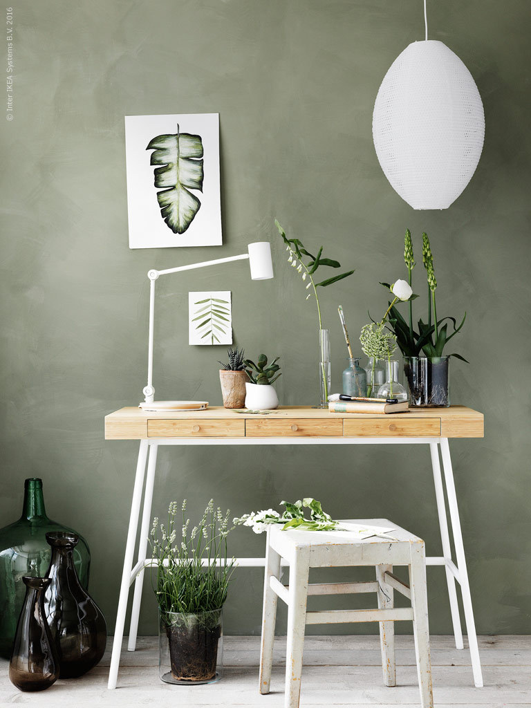 Green IKEA workspace Follow Gravity Home: Blog - Instagram - Pinterest - Bloglovin - Facebook